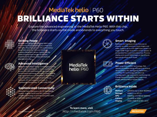 Особенности MediaTek Helio P60