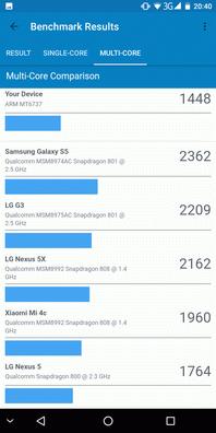 Pixelphone M1 в GeekBench 4