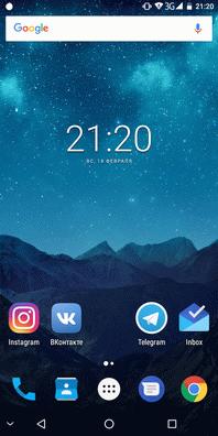 Интерфейс Pixelphone M1