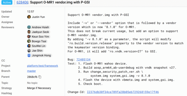 Тестирование особого Pixel 2 в VTS
